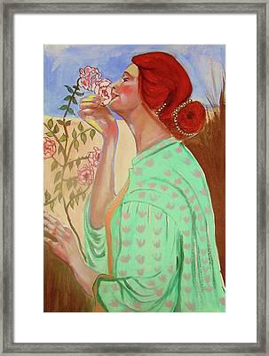 Briar Rose Framed Print by Rusty Woodward Gladdish