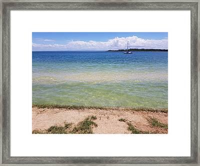 Bribie Ocean  Framed Print