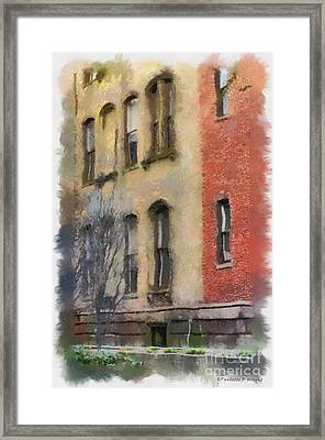 Brick Alley Framed Print by Paulette B Wright