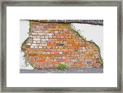 Framed Print featuring the photograph Brick And Mortar by Wanda Krack
