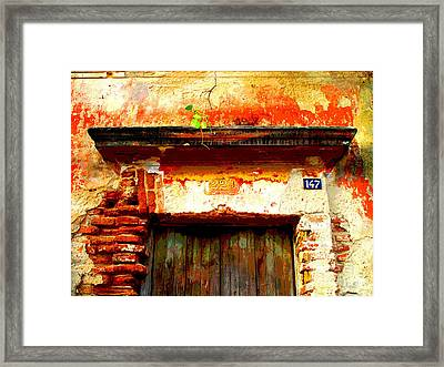 Brick And Wood By Darian Day Framed Print