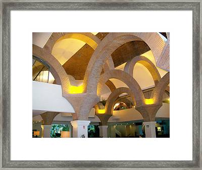 Brick Arches Framed Print by George Pasini