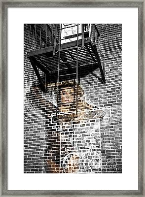 Brick Babe In The City Framed Print by John Rizzuto