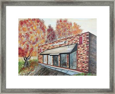 Brick Building Framed Print by Suzanne  Marie Leclair