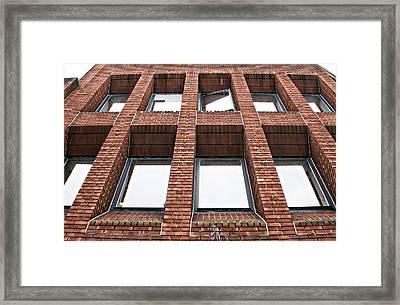 Brick Building Framed Print