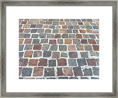 Brick By Brick Framed Print