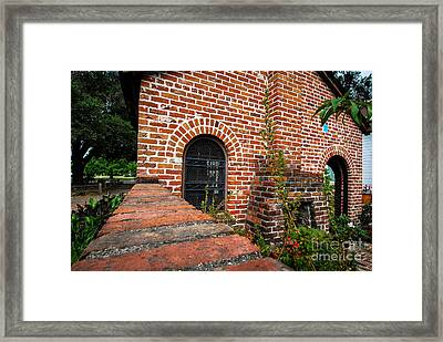 Brick Courtyard Framed Print