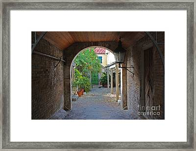 Brick Entryway Framed Print