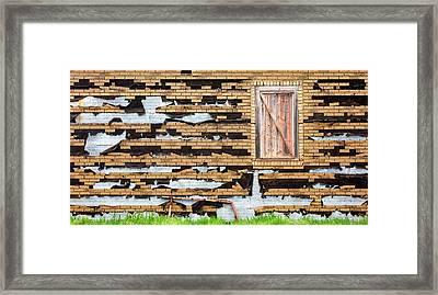 Brick Facade Framed Print