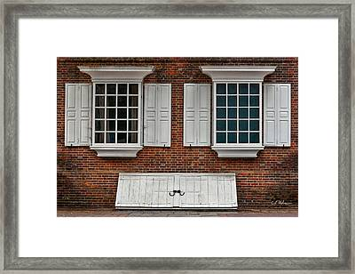 Brick Face Framed Print by Christopher Holmes