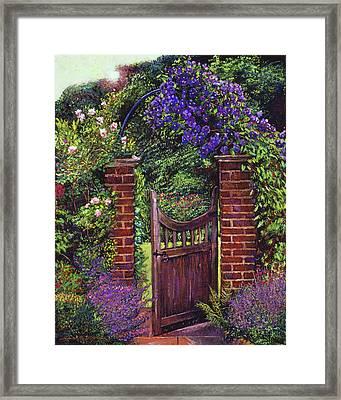 Brick Gateway Framed Print by David Lloyd Glover