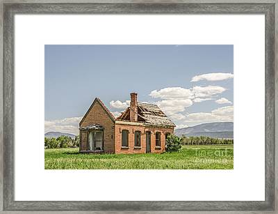 Framed Print featuring the photograph Brick Home In June 2017 by Sue Smith