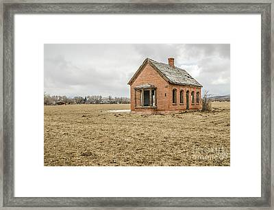 Framed Print featuring the photograph Brick Home In November 2015 by Sue Smith