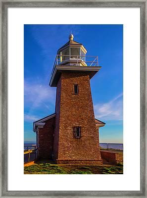 Brick Lighthouse Framed Print by Garry Gay