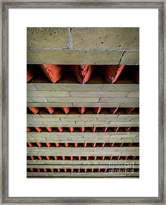 Brick Patterned Abstract Framed Print