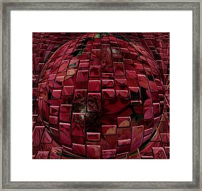 Brick Red Framed Print by Evelyn Patrick