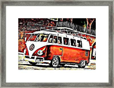 Brick Red Framed Print by S Poulton