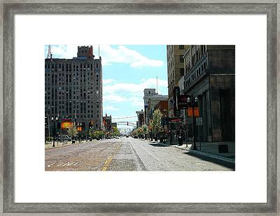 Brick Road Framed Print