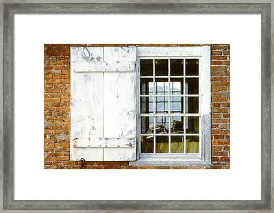 Brick Schoolhouse Window Photo Framed Print by Peter J Sucy