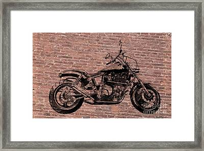 Brick Splitter Framed Print
