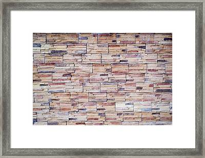 Framed Print featuring the photograph Brick Tiled Wall by John Williams
