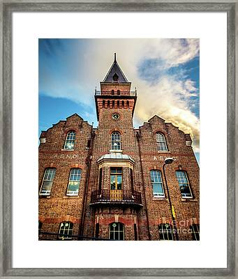 Framed Print featuring the photograph Brick Tower by Perry Webster