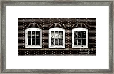 Framed Print featuring the photograph Brick Trio by Brad Allen Fine Art