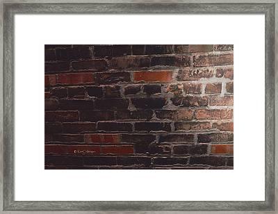Brick Wall Abstract Framed Print
