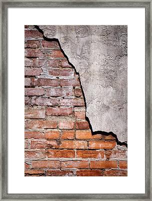 Brick Wall II Framed Print by David and Carol Kelly