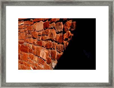 Brick Wall Framed Print by Jennilyn Benedicto