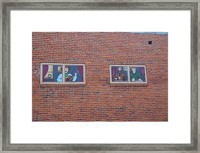 Brick Wall Street Art Framed Print by Robert Braley