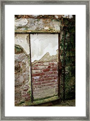 Bricked Up Cell At Eastern State Penitentiary  Framed Print