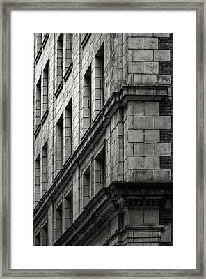 Bricks And Beauty Framed Print