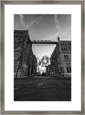 Bricks And Beer Framed Print by CJ Schmit