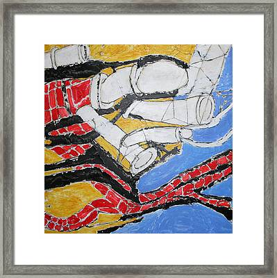 Bricks And Pipes Framed Print by Ray  Petersen