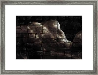 Bricks Framed Print by Naman Imagery