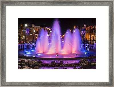 Bricktown Fountain Framed Print by Ricky Barnard