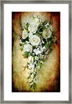 Bridal Bouquet Framed Print by Meirion Matthias