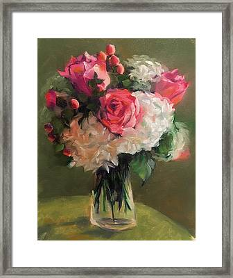 Bridal Bouquet Framed Print