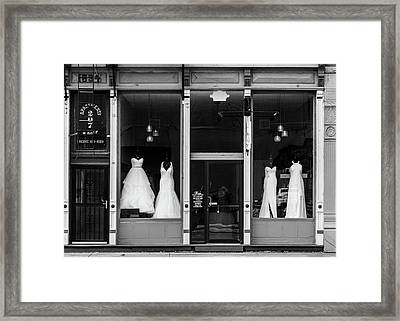 Bridal Gowns Framed Print by Al White