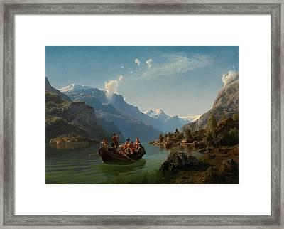 Bridal Procession On The Hardangerfjord Framed Print