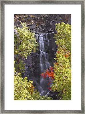 Bridal Veil Falls Black Hills Framed Print by Rich Stedman