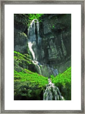 Bridal Veil Falls Canvas 1 Framed Print by Steve Ohlsen