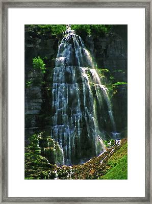 Bridal Veil Falls Canvas 2 Framed Print by Steve Ohlsen