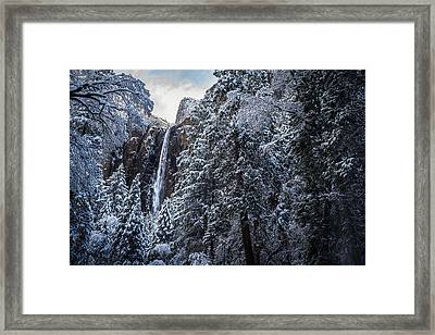 Bridal Veil Falls In Winter Framed Print