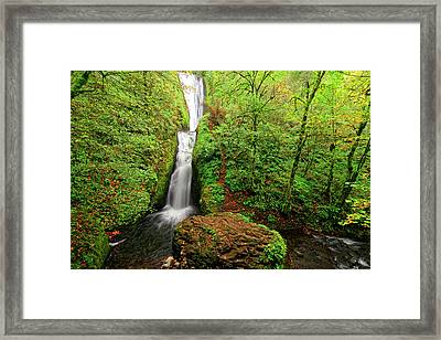 Framed Print featuring the photograph Bridal Veil Falls by Jonathan Davison