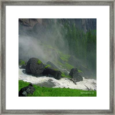 Bridal Veil Falls Mist Framed Print by Crystal Garner