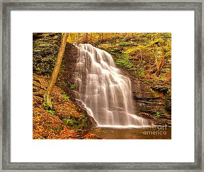Bridal Veil Falls Framed Print by Nick Zelinsky