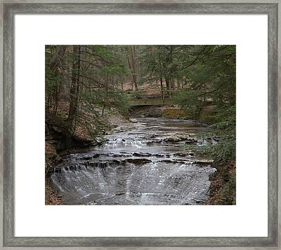 Bridal Veil Falls Ohio Framed Print