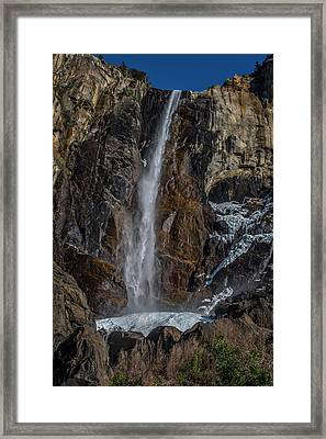 Bridal Veil Falls On Ice Framed Print